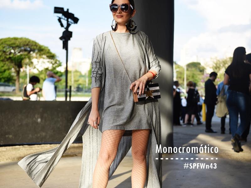 Monocromático e tênis – Look da #SPFWn43